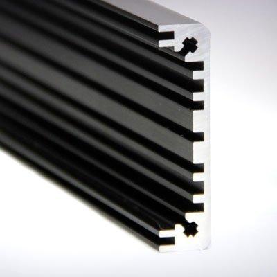 Seitenprofil 1 schwarz eloxiert
