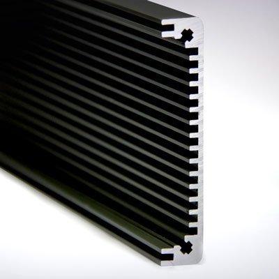 Seitenprofil 2 schwarz eloxiert